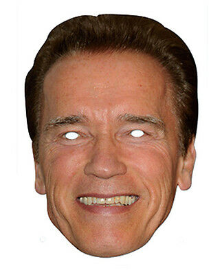 Arnold Schwarzenegger 2D Maschera di Cartone Feste Costume - Arnold Schwarzenegger Costume