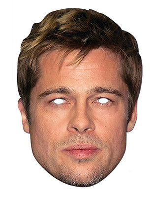 Brad Pitt Promi 2D Karten Party Gesichtsmaske Kostüm Hollywood Actor - Hollywood Masken Kostüm