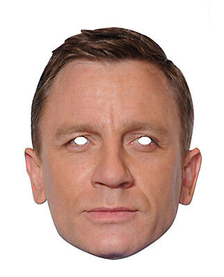 Daniel Craig Promi 2D Karten Party Gesichtsmaske Kostüm Hollywood - Hollywood Masken Kostüm