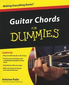 guitar chords for dummies learn to play beginner easy lesson music book tutor ebay. Black Bedroom Furniture Sets. Home Design Ideas
