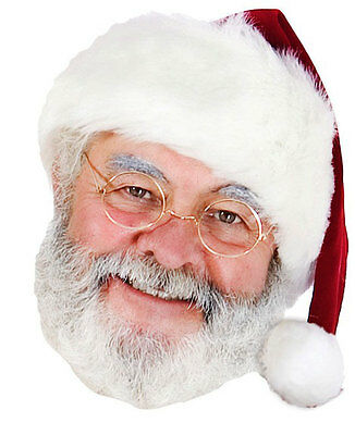 Santa Claus Father Christmas 2D Card Party Face - Santa Claus Maske