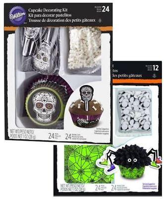 2 Wilton Cupcake Spider Skeleton Cup Cake Decorating Kit 24Sets Halloween Zombie](Halloween Cup Cake)