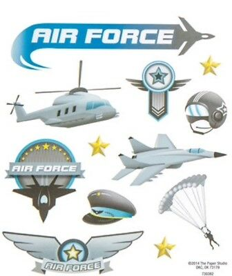 Military United States Air Force Scrapbook Stickers