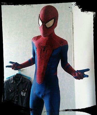 Spiderman Costumes For Adults (Amazing Spiderman Spandex Zentai Suit Cosplay Costume For)