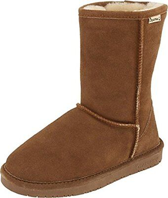 Bearpaw Women's Emma Hickory/Champagne Short Fur Lined Warm