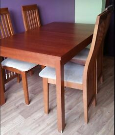 Extending Dining Table & 4 Chairs FREE DELIVERY 0553