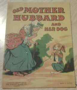 c1919 Antique Book Old Mother Hubbard and Her Dog