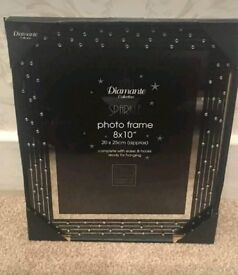 Diamante sparkle 8x10 photo frame home decor