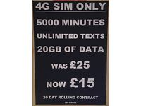UNBEATABLE Virgin Media 4G 20GB Sim Only Deal, See Post For More