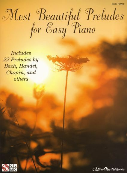 Most Beautiful Preludes Easy Piano Learn Play EASY CLASSCIAL Music Book