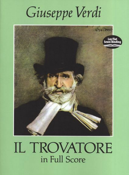 Giuseppe Verdi Il Trovatore Full Score Sing Vocal Choral Voice Choir Music Book