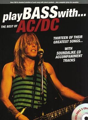 Play Bass With Best Of AC/DC Learn to Play Guitar TAB Music Book & (Best Bass Tabs To Learn)