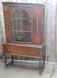 1920's CHINA CABINET Stamped #rd