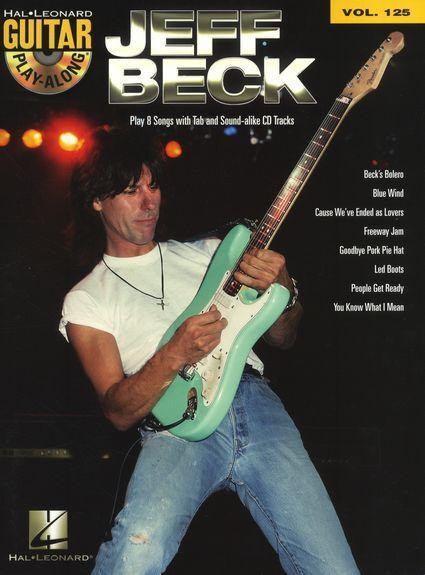 Jeff Beck Learn to Play Pop Folk Rock Guitar TAB Music Book & Playalong CD