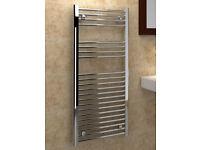 New Kudox Premium Flat Chrome Ladder Towel Rail 500 x 1100mm