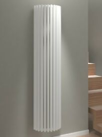 Large unusual designer white radiator