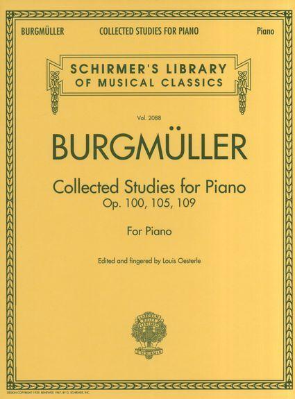 Burgmüller: Collected Studies For Piano - Op.100, Op.105, Op.109