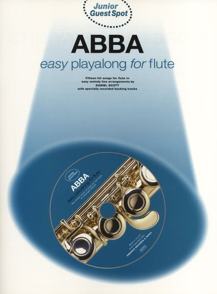Junior Guest Spot ABBA Flute Music Book + CD Playalong Learn MAMMA MIA Songs SOS