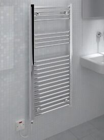 Electric Ladder Towel Rail Straight D Standard 500mm x 1100mm Chrome (BRAND NEW!) RRP £170