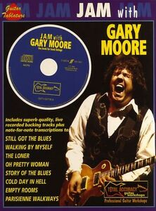 Jam With Gary Moore Sheet Music Book Guitar CD TAB NEW