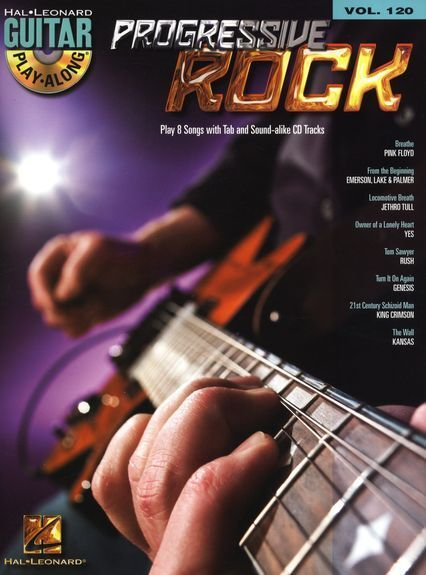 Guitar Play-Along Progressive Rock Learn to Play Pop TAB Music Book CD