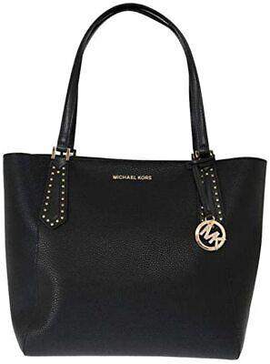Michael Kors Black Kimberly Top Zip Leather Tote Bag