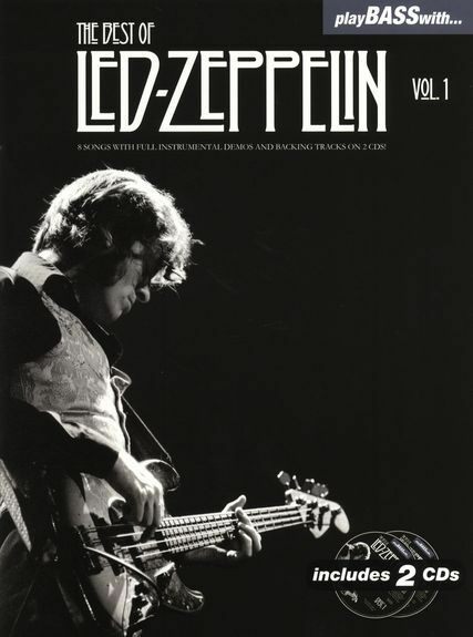 Play Bass With Best Of Led Zeppelin Guitar TAB Learn to Play Music Book CD