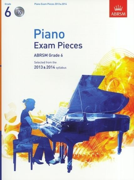 Piano Exam Pieces 2013/14 Gr 6 with CD; ABRSM, FMW - 9781848494145