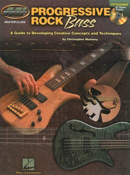 Rock Bass Guide Developing Progressive Techniques Guitar Tab Music Book & CD