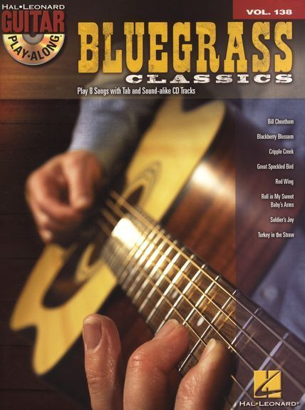 Guitar Play-Along Bluegrass Classics Learn to Play Country TAB Music Book & CD