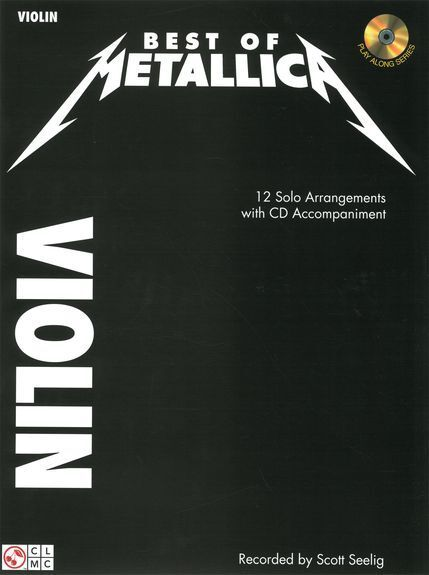 Best of Metallica Learn Play Pop Heavy Metal Rock Fiddle Violin Music Book & CD