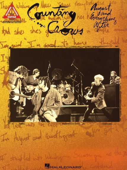 Counting Crows August And Everything After Pop Rock Guitar TAB Music Book