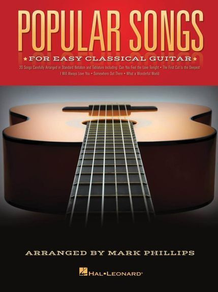 Popular Songs For Easy Classical Guitar Learn to Play BEGINNER TAB MUSIC BOOK