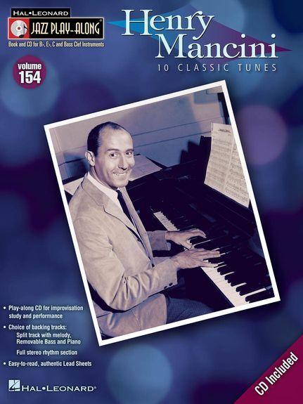 Jazz Play-Along Henry Mancini Learn to Play Saxophone Sax Piano Music Book & CD