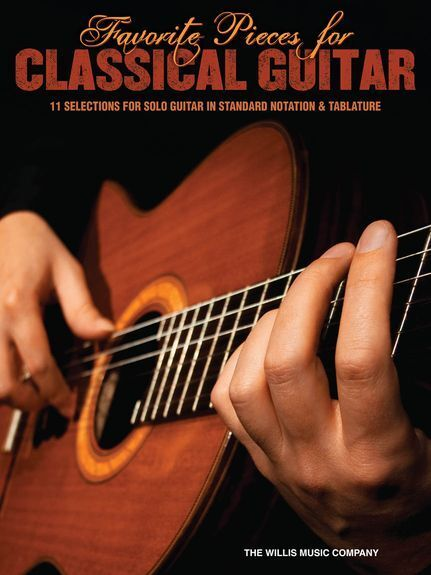 Favorite Pieces For Classical Guitar FUR ELISE GREENSLEEVES TAB Music Book