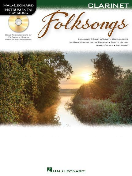 Instrumental Play-Along Folksongs Play FOLK Tunes Clarinet Music Book & CD