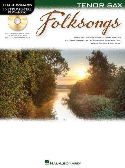 Instrumental Play-Along Folksongs Tenor Saxophone Play Sax Music Book & CD
