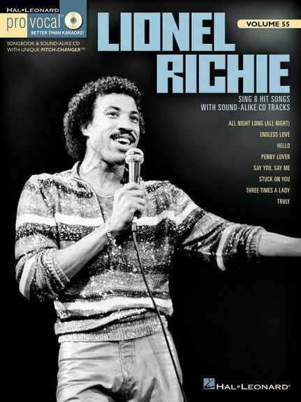 Male Men's Pro-Vocal Lionel Richie Sing Audition Voice Singer Music Book & CD