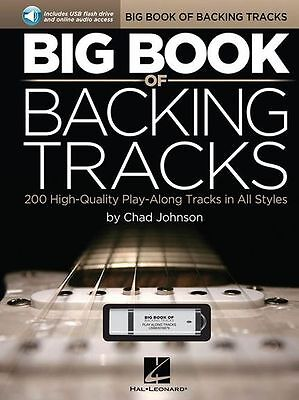 Big Book of Backing Tracks Learn Play BLUES JAZZ ROCK COUNTRY Guitar Music USB