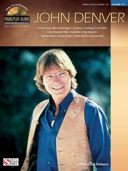 Piano Play-Along John Denver Learn Play Country Folk Guitar Music Book & CD