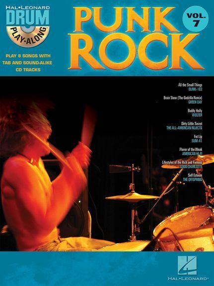 Drum Play-Along Punk Rock Songs Tunes Drummer Music Book & CD