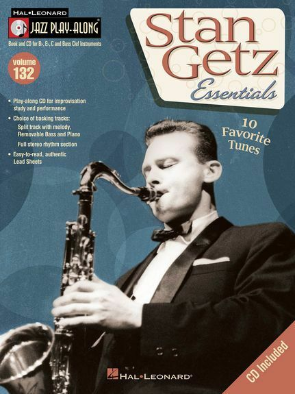 Jazz PlayAlong Stan Getz Play Saxophone Sax Trumpet Piano Flute Music Book & CD