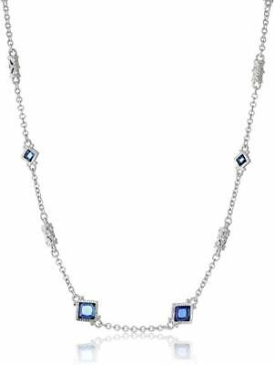 JUDITH RIPKA Necklace Blue Sapphire SILVER 925