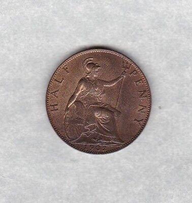 1902 LOW TIDE HALF PENNY IN NEAR MINT CONDITION