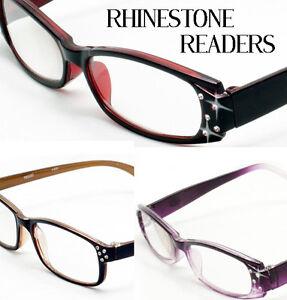 3-Pair-Rhinestone-Reading-Glasses-Mix-Color-Women-Designer-Fashion-Optical-Read