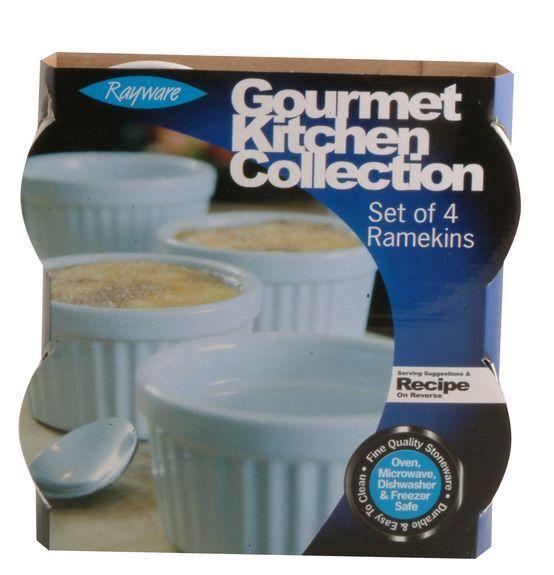 Ceramic Ramekins 9cm diameter White Set of 4 Rayware