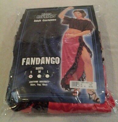 Hidden Illusions Fandango Flamenco Dancer adult costume 4 piece set sz 6-8 small