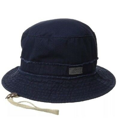 Outdoor Research Gin Joint Sun Bucket Hat NAVY Removable Chin Cord Fabric Adjust