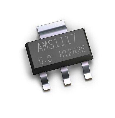 20pcs Ams1117 Ams117-5.0 5.0v 1a Voltage Regulator Sot-223 New