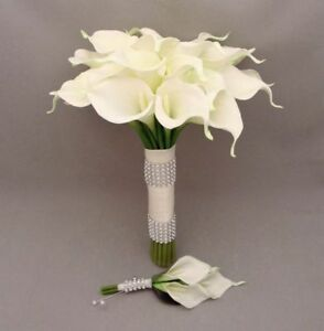 ARTIFICIAL REAL TOUCH CALLA LILY BUNCH